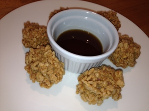 Krupuk Quail Eggs with Chilli Lime Dipping Sauce